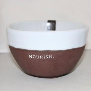 Rae Dunn Chocolat NOURISH Bowls Set 2 Small